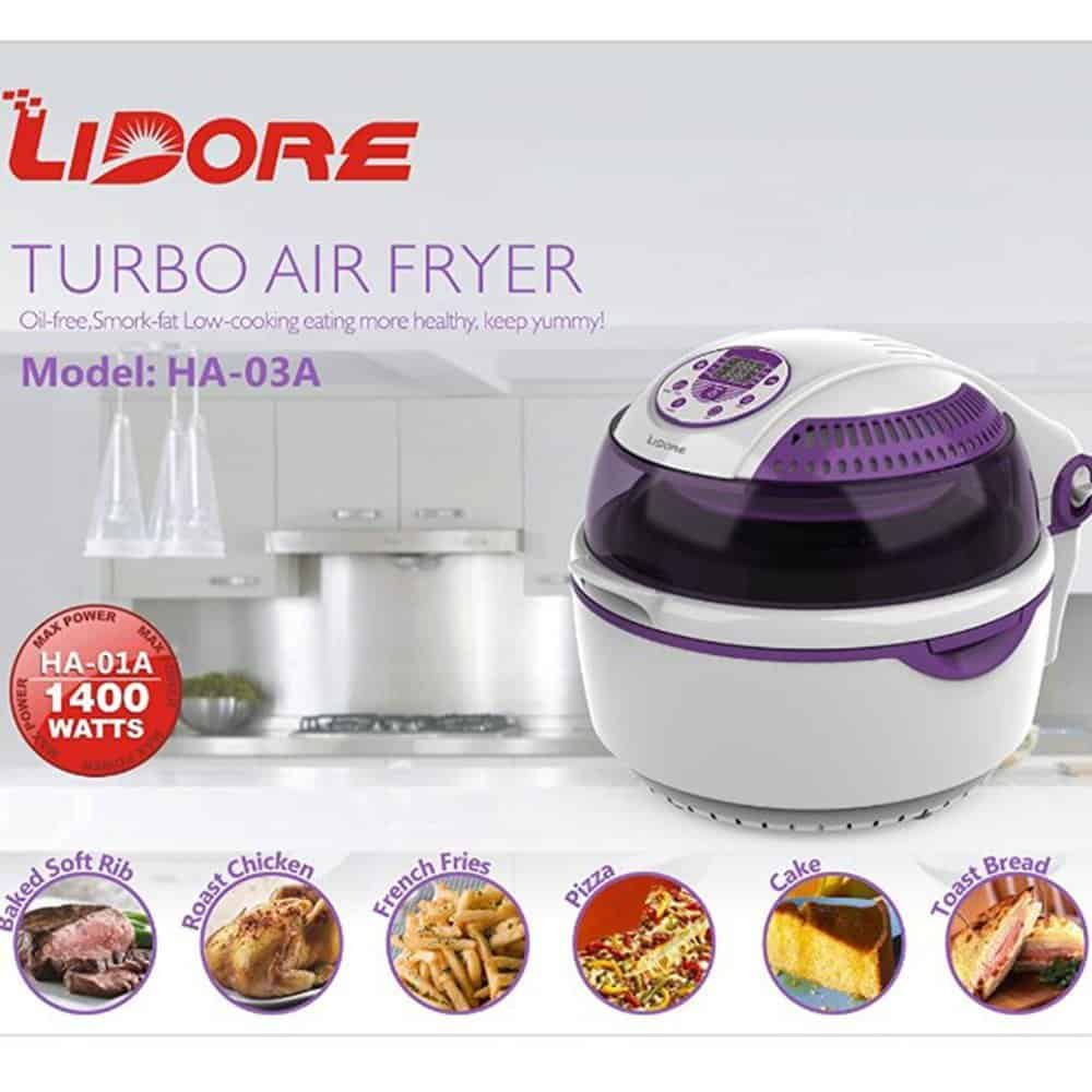 Lidore Hot Air Fryer with 8 Cooking Modes