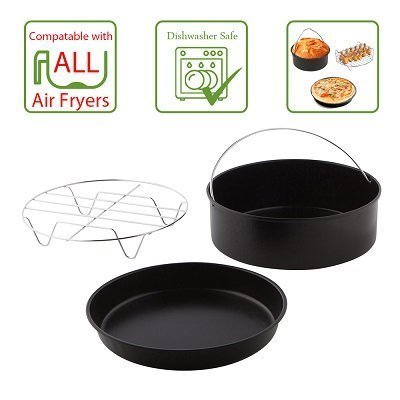 Airfryer Accessory Pack, 3-Piece Set Deep dish and pan are both 8