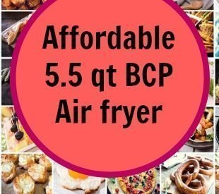 Affordable 5.5 qt BCP air fryer