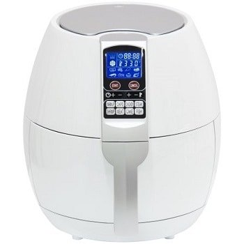 Best Choice Products 3.7Qt 1400 Watts Electric Air Fryer With 8 Cooking Presets, Temperature Control, Timer (White)