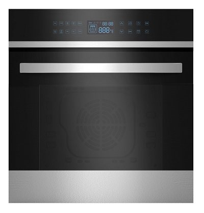 Empava 24 inch 9 Cooking Functions Push Button and Touch Control Built-in Convection Single Wall Oven