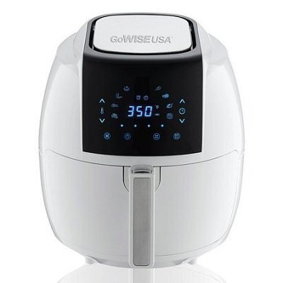 GoWISE USA 5.8 Qt 8-in-1 Electric Air Fryer White