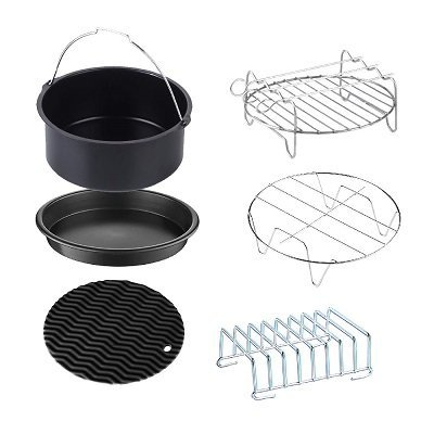 GoWISE USA 6-piece Air Fryer Accessory Set - Fits 2.75-Quart - 3.7-Quart GoWISE USA Air Fryers