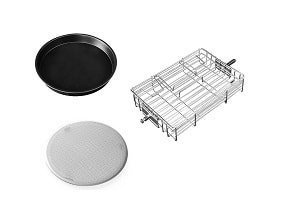 GoWISE USA Turbo Air Fryer Accessories - Steak Cage, Baking Pan, and Filter Pan