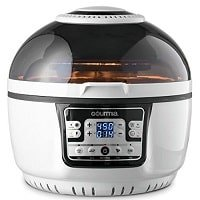 Gourmia Electric Digital Air Fryer Griller and Roaster with Optimized Calorie Reduction Technology