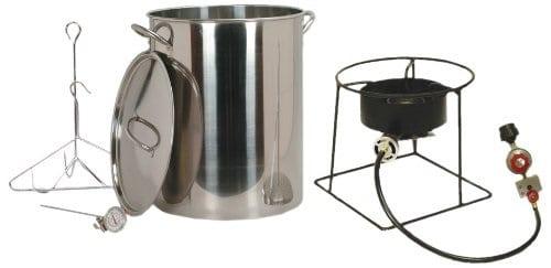 King Kooker 30 qt Stainless Steel Turkey Fryer Propane Outdoor Cooker