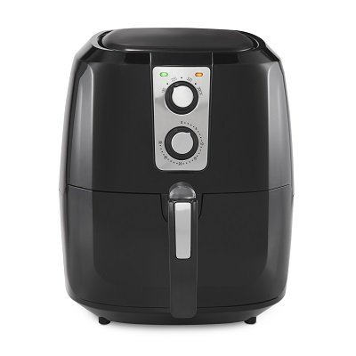 La Gourmet 5.5 Liter Manual Air Fryer, Black