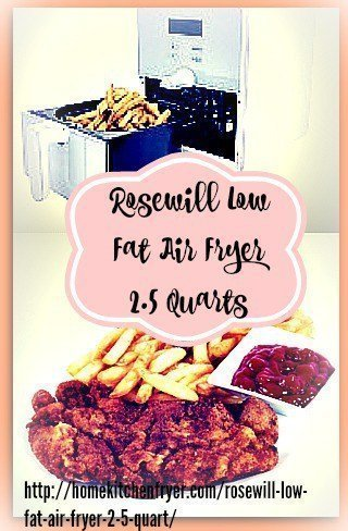 Rosewill Low Fat Air Fryer 2.5 Quarts