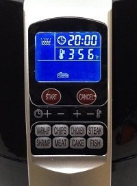Smart Health Air Fryer LCD Display with 8 Quick Start Buttons