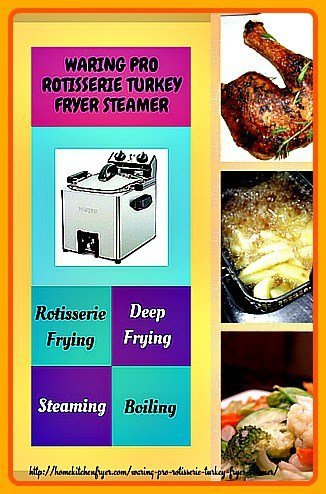 Waring Pro Rotisserie Turkey Fryer Steamer