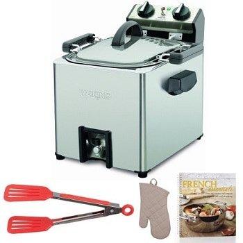 Waring Pro TF200B Rotisserie Turkey Fryer plus Cookbook, Oven Mitt and Flipper Tong
