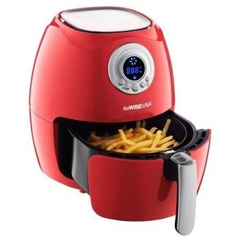 gowise usa electric digital air fryer with button guard and detachable basket 2.75 qt